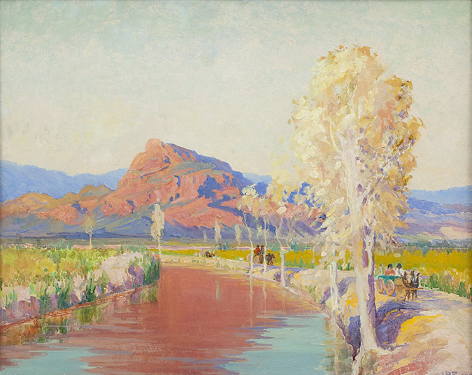 Granite Mountain near Phoenix, 1917; oil on canvas; 24 x 36 inches