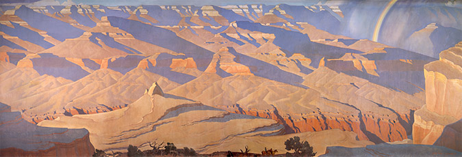 Grand Canyon Mural, 1947; 9 x 28 feet